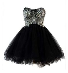 Puffy prom dresses - black and silver corset tutu puffy poofy prom dresses