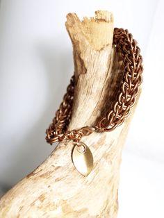"""Armband """"Copper Viper""""  von Chain-Elle Art's - wunderschöner Chainmaille Schmuck. Finde zu Deiner Geschichte Dein passendes Schmuckstück. Einzigartig."""