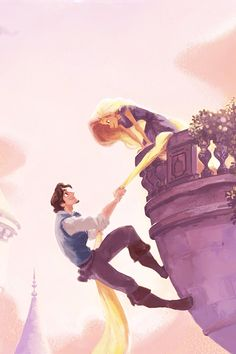 Tangled - rapunzel and fynn rider - concept art - disney wallpaper