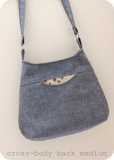 cross-body bag by sewquine@theochiltree, via Flickr