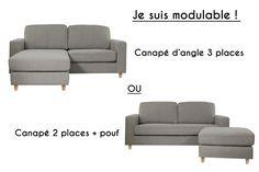 RABAT BEIGE FICELLE - Canapé d'Angle Réversible 2 Places Tissu / MyCreationDesign