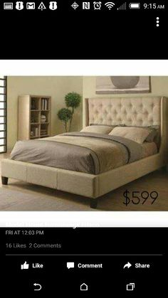 Coaster Tan King Upholstered Bed Collection DescriptionCreate A Bold Look  In Your Master Bedroom With A Unique Upholstered Bed,.