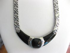 Vintage Trifari Chunky Silver and Black by SellitAgainVintage, $17.00