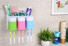 13 Clever Bathroom Organizers You Can Buy On Amazon Right Now. Kids  Bathroom OrganizationToothbrush OrganizationToothbrush StorageSmall ...