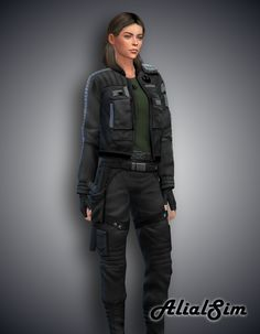 Alial Sim — Batuu Outfit Recolor of Batuu outfit Download... Die Sims, Sims 4 Custom Content, Winter Jackets, Female, Clothes For Women, Full Body, Outfits, Fashion, Winter Coats