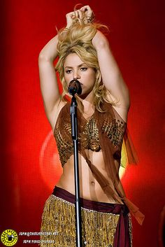 Shakira...this girl can move her hips like no other! She has inspired me and my love for dance.