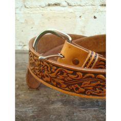 Hand Tooled Leather Belt - HHPP