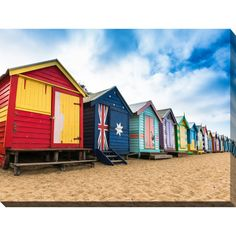 Brighton beach bathing boxes in Melbourne. Bathing boxes are the well-known place of Brighton beach in Melbourne, Australia. Colourful Buildings, Colorful Houses, Hiking Spots, White Building, Blue City, Australia Travel, Visit Australia, Melbourne Australia, Beach Town