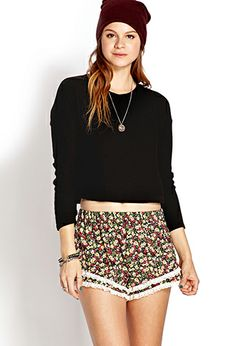 Ruffled Floral Shorts | FOREVER21 - 2000070597