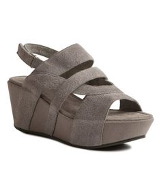 Love this Gray Hook Suede Wedge Sandal by Antelope on #zulily! #zulilyfinds