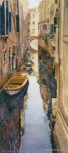 of course I like this one :) steve hanks art   Venice canal - Steve Hanks   Paintings