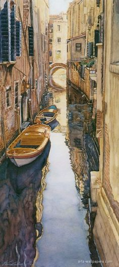 of course I like this one  :) steve hanks art | Venice canal - Steve Hanks | Paintings