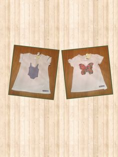 T-shirt swimsuit and butterfly Camiseta bañador y mariposa patchwork