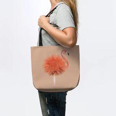 Flamingo fuzzball. - Flamingo - Tote | TeePublic Flamingo, Coral, Shades, Women's Fashion, Bags, Flamingo Bird, Handbags, Fashion Women
