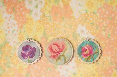 cross-stitch pendants