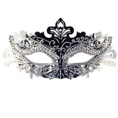 Coxeer Pretty Elegant Lady Masquerade Halloween Mardi Gras Party Mask ($13) ❤ liked on Polyvore featuring mask