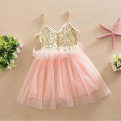 Nuevas Muchachas de La Princesa Niños Del Bebé Niñas Vestidos de  Lentejuelas Tulle Tutu Vestido Vestido de Tirantes de La Boda 853b71d22c61