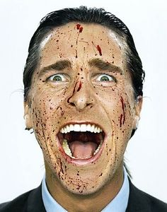 American Psycho...  This is a terrific photo - I see something different in those eyes every time I look. Scary.