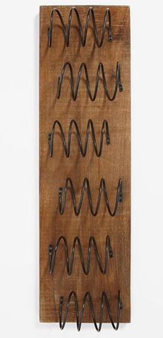 Wall mounted wine rack - holds 6 bottles #wishlist