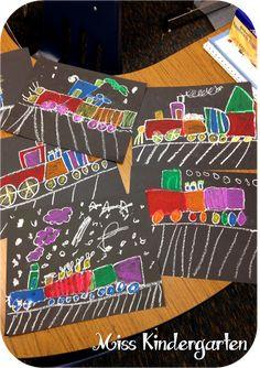 Miss Kindergarten: Polar Express directed drawing