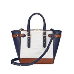 00b3ab1b3302f Mini Marylebone Tote in Smooth Blue Moon   Snow White Croc Mix. Tote  PurseTote HandbagsTote ...