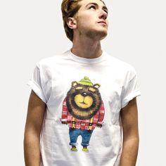 Woodsbear 100%cotton t-shirt