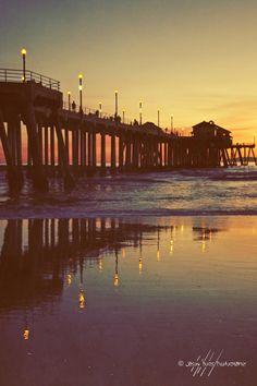 HUNTINGTON BEACH!  Vintage Sunset at the Beach  Huntington Beach by JimAmosPhotos22, $25.00