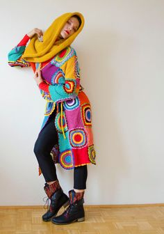 Women's Cardigan Light Silky Yarn by subrosa123 on Etsy