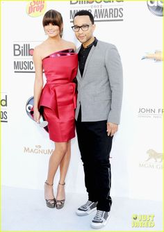 Chrissy Teigen in Georges Chakra Couture & John Legend - Billboard Awards 2012