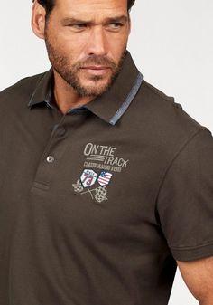 Arizona Poloshirt in Piqué-Qualität, Piqué Polo mit Stickerei auf der Brust online kaufen Mens Polo T Shirts, Boys Shirts, Collar Shirts, Polo Shirt Design, Ralph Lauren Brands, Clothing Labels, Fashion Branding, Arizona, Shirt Designs