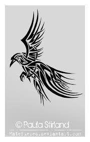 「tribal raven tattoo」の画像検索結果