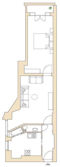 Gut geschnittene 2-Zimmerwohnung mit Altbau Charakter