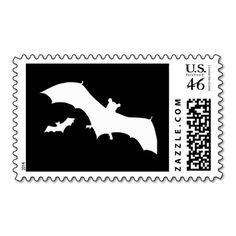 Halloween Bats Postage
