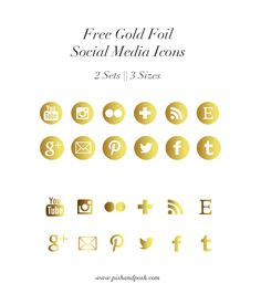 Gold is such a great color, and it seriously goes with everything! Now you can sass up your blog with these free gold foil social media icons!