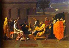 Bebé Mioses pisoteando la corona del faraón, 1645 - Nicolas Poussin. Titulo Original: Bébé Moïse foulant aux pieds La Couronne de Pharaon