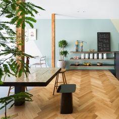 Torafu Architects creates three-tiered interior  for Japanese ice-cream cafe