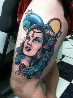 Peacock Sketch, Justin Harris, Neo Traditional Tattoo, Elegant Woman, Tattoo Art, Tattoo Inspiration, Crane, Piercings, Tattoo Ideas