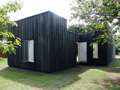 Skybox House, Minimalist Black Box House Design 1