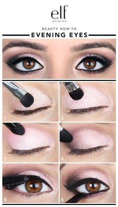 """As they say— """"the eyes are the windows to the soul,"""" and these windows are flirty! I love using color to create a half-smoky effect because it can truly enhance the shape and beauty of your eyes. Did you know about e.l.f.'s AMAZING range of shadows and formulas? You just can't beat the quality and price on this look... it's a must try and is so much easier to create than you think!"""
