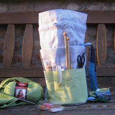 """""""Csíkos"""" kézimunka táska - zöld- IV-es típus Organization, Bags, Decor, Getting Organized, Handbags, Organisation, Decoration, Tejidos, Decorating"""