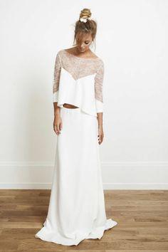 Top Ryder et jupe XXX, Rime Arodaky - EN IMAGES. Dix robes de mariée de la collection 2014 Rime Arodaky - L'EXPRESS