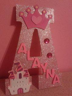 For Girls: Alayna, Alloryn Wood Letter Crafts, Wooden Wall Letters, Nursery Letters, Letter Wall, Baby Diy Projects, Projects To Try, Letras Baby Shower, Crafts For Kids, Diy Crafts