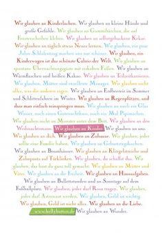 """Poster """"Wir glauben an Kinder"""""""