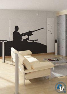 Humvee Gunner   Removable Vinyl Wall Decal Art by iDesignersUnited, $109.99