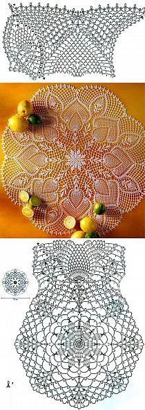 szydełko / serweta - ananas