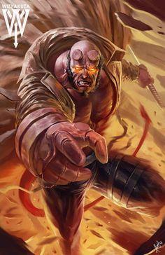 Hellboy by Ceasar Ian Muyuela 'Wizyakuza' Marvel Comics, Marvel Heroes, Anime Comics, Marvel Vs, Comic Books Art, Comic Art, Deadpool Funny, Comic Manga, Marvel Entertainment