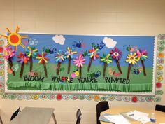 Spring bulletin board for kids Bird Bulletin Boards, Kindergarten Bulletin Boards, Spring Bulletin Boards, Classroom Bulletin Boards, In Kindergarten, Classroom Ideas, Soft Board Decoration, Board For Kids, School Displays
