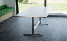 Formica, Oak & Steel Table