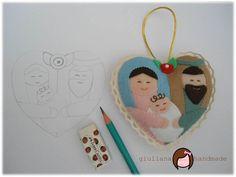 Giuliana - Original Handmade: MOLDE CORAÇÃO SAGRADA FAMÍLIA - Meu molde do mês!