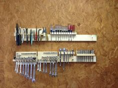 French Cleat Storage for Hand Tools.